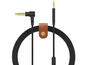 Geekria QuickFit Audio Cable with Mic Compatible with Bose QuietComfort25, QC25, QC35, SoundTrue, SoundLink Headphones Cable, 3.5mm AUX Replacement Stereo Cord with Inline Microphone (Black 5.6FT)
