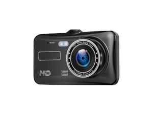 4 Inch 1080P Dual Camera IPS Touch Screen Car Recorder Car DVR Camcorder 170 Degree Wide Angle Vehicle Rear View Backup Camera Parking Monitor (Black)