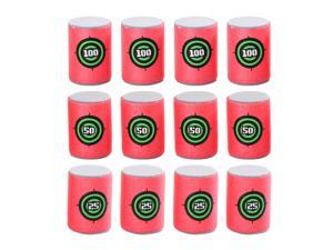 12pcs Soft Foam Target Cans for War Game Shooting Games