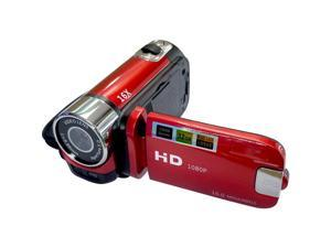 1080P LED Light High Definition Shooting Video Record Portable Camcorder Professional Digital Camera (Red)