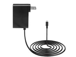 1.5m Type-C Cable Power Adapter Power Supply Power Charger Compatible for Nintendo Switch with US Plug (Black)
