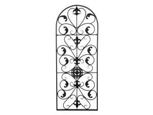 """41.5"""" Semi-Circular Retro Decorative Spanish Arch Wall Art Victorian Style Iron Ornament"""