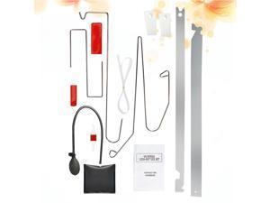 10PCS/Set Car Emergency Tool Car Window Door Key Lost Kit Inflatable Air Pump Air Wedge Pry Tool Lock Out Emergency Open Unlock Pad Tool Kit
