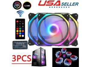 Computer Fan PC Case Fan RGB CPU Air Cooler LED Quiet Computer Cooling Kit
