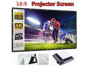 120 Inches 16:9 Foldable Projector Screen 3D Projection Soft Curtain Movie Screen for Office Home Theater Cinema