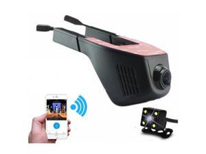TinkSky WIFI Car DVR Dash Camera Hidden Video Recorder with Full HD 1080P 170 Degree Wide Angle