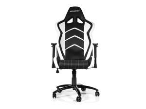 AKRacing Racing Style Gaming Chair with High Backrest, Recliner, Swivel, Tilt, Rocker and Seat Height Adjustment Mechanisms - White PU Leather