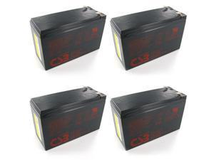 Quantity 4: CSB GP1272 F2 12V/7.2 AH OEM Sealed Lead Acid Battery