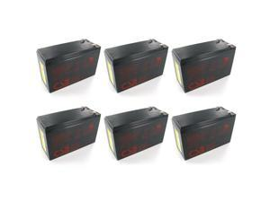 Quantity 6:  CSB GP1272 F2 12V/7.2 AH OEM Sealed Lead Acid Battery