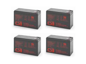 Quantity 4 CSB HR1234W - High Rate 12V 9Ah AGM Battery - F2
