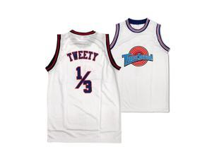 Tweety Bird Tune Squad White Jersey Space Jam Basketball 1/3 Movie Costume Gift - Mens 2XL