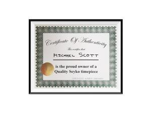 Michael Scott Quality Seyko Timepiece Certificate Of Authenticity The Office TV