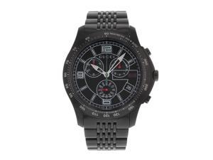 23f140d095d Gucci 126 YA126217 Tachymeter Stainless Steel Black PVD Quartz Mens Watch