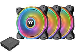 Thermaltake Riing Quad 14 RGB Radiator Fan 140mm 3 Pack - Black