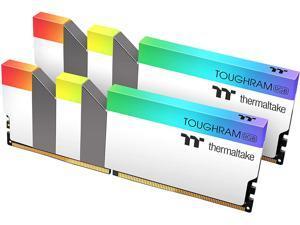 Thermaltake TOUGHRAM RGB 64GB (2x32GB) DDR4 3200MHz C16 1.35V DIMM Desktop Gaming Memory, White, R022R432GX2-3200C16A