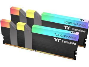 Thermaltake TOUGHRAM RGB 32GB (2x16GB) DDR4 3200MHz C16 1.35V DIMM Desktop Gaming Memory, Black, R009D416GX2-3200C16A