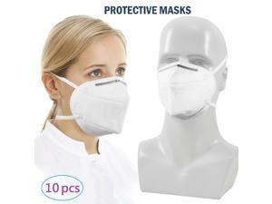 10pcs Face Mask KN95 Wrap Around Head Dust proof Mouth Respirator Safety Wear PM2.5  / >95% Filteration
