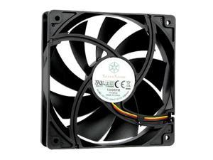 Silverstone FN121-P 120mm Case 9 Blade 3 Pin 1200RPM Fixed Speed Airflow Cooling Fan-Black