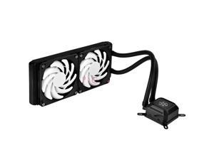 SILVERSTONE Tundra TD02-Slim Durable High-Performance All-In-One Liquid CPU Cooler with Dual Adjustable 120mm 4 Pin PWM Fans for Small PC Builds
