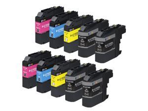 E-Z Ink ™ 10 Pack Compatible Ink Cartridge Set for Brother LC103 XL (4 Black, 2 Cyan, 2 Magenta, 2 Yellow) DCP-J152W MFC-J245 J285DW J450DW J470DW J475DW J650DW J6520DW J6720DW J6920DW J870DW J875DW