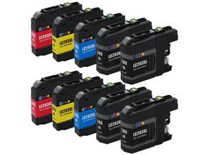 E-Z Ink ™ Compatible Ink Cartridge Replacement For Brother LC203 LC-203 LC-203XL LC-203 XL LC203XL LC 203 XL High Yield (10) Pack (4 Black, 2 Cyan, 2 Magenta, 2 Yellow) LC203BK LC203C LC203M LC203Y