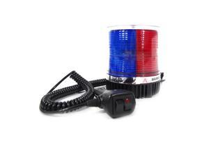 Xprite Red/Blue 12 LED 6W LED Magnetic Mount Strobe and Rotating Beacon Light
