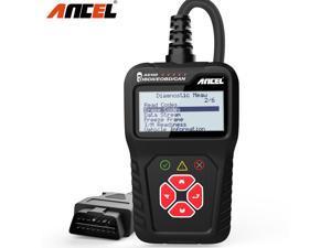 Ancel AS100 Automotive OBD2 Scanner Code Reader Detector Check Engine Read/Clear Fault Codes Smoke Emission Vehicle Information Live Data Stream Auto ODB 2 Car OBDII Diagnostic Tool PK ELM327 V1.5