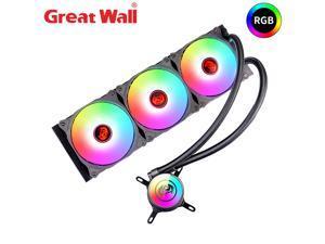 Great Wall CPU Water Cooler RGB AURA SYNC Heatsink for Computer Intel LGA 1150 1151 1155 2011 AM4 Cooler ARGB Water Cooling PC 360i