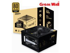 Great Wall PC Power Supply 500W Source 80Plus Gold Bronze 12V ATX PSU Computer Power Supplies APFC 120mm Fan PSU Unit for PC