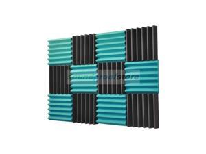 2x12x12-12PK TEAL/CHARCOAL Acoustic Wedge Soundproofing Studio Foam