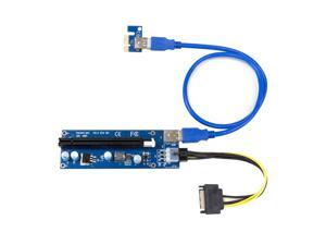 Kingwin PCI-e 1x-16x PWR 6p Powered Adapter Card Flexible Extension SATA To 6pin Cable