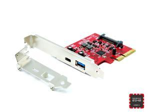 Fantom Drives PCIe USB 3.1 Gen 2 10Gbps Type-C + Type-A Host Adapter Asmedia 2142 Chipset