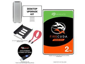 "Fantom Drives 2TB SSHD PC Upgrade Kit with Seagate Firecuda Solid State Hybrid Drive (SSHD) - Includes 2.5"" to 3.5"" Adapter Bracket and FD Cloning Software Inside USB Flash Drive"