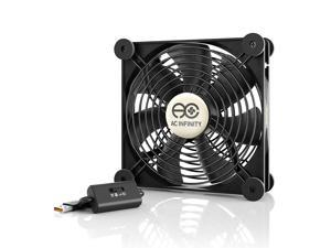 AC Infinity MULTIFAN S4, Quiet 140mm USB Fan for Receiver DVR Playstation Xbox Computer Cabinet Cooling