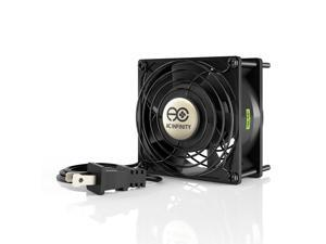 AC Infinity AXIAL 9238, Muffin Axial Cooling Fan, 115V AC 92mm by 92mm by 38mm High Speed