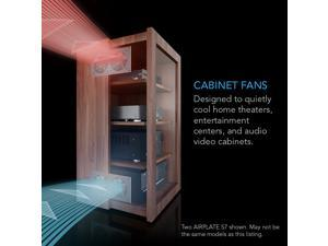 AC Infinity AIRPLATE S2, Quiet Cooling Blower Fan System with Speed Control, for Home Theater AV Cabinet Cooling