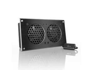AC Infinity AIRPLATE S5, Quiet Cooling Fan System with Speed Control, for Home Theater AV Cabinets