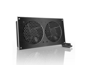 AC Infinity AIRPLATE S7, Quiet Cooling Fan System with Speed Control, for Home Theater AV Cabinet Cooling
