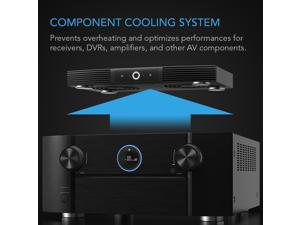 """AC Infinity AIRCOM S7, Quiet Cooling Blower Fan System 12"""" for Receivers, Amps, DVR, AV Cabinet Components"""