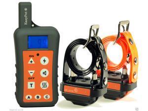 EasyPet® EP-380R Ultra Range 1200M Dog Training Collar System /Remote Rechargeable Waterproof Dog Shock Collar Bark Trainer (2-Dog Collar Set)