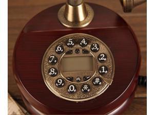 Vintage Antique Retro Caller ID Handset Desk wood Telephone Hand-free Brown
