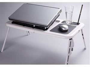 Foldable All in One Laptop Table with Cooling Pad