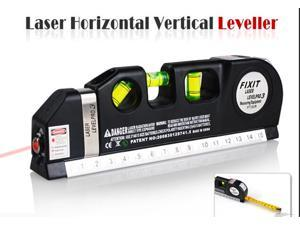 Laser Level Pro 3 with Tape Measure 8FT/250cm Horizontal Vertical Measuring Tool