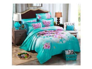 Cotton Active floral printing Quilt Duvet Sheet Cover Sets 4PC Set