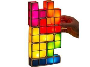 Kids Play Toy LED Light 3D Tetris Puzzle Light