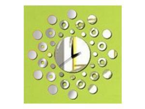 Mirror Wall Clock 3D Decoration Circle