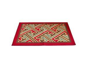 Dacron Non-slip Ground Door Foot Mat Carpet   criss  60*90cm