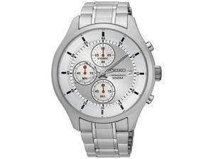 Seiko Chronograph Silver Dial Mens Watch SKS535