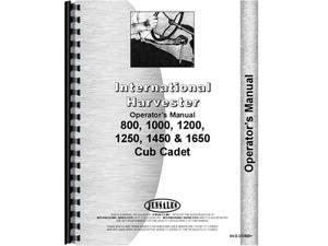 New Tractor Operator Manual For International Harvester Cub Cadet 293 393 -  Newegg com