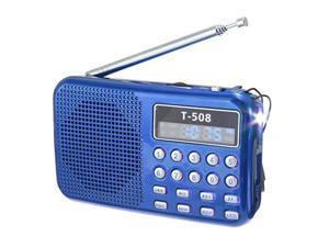 T508 Mini Portable LED Stereo FM Radio Speaker LCD Screen USB TF Card Mp3 Music Player Sound Recording Loudspeaker
